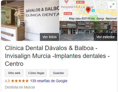 alt+dental clinic in murcia with attention in english website